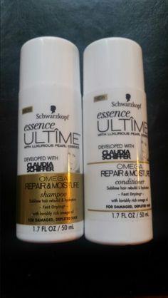 Schwarzkopf Essence Ultime Omega Repair & Moisture Shampoo & Conditioner 1.7 fl oz. each Retail Value $1.75