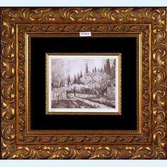 Lot 608-Vincent Van Gogh collotype in black Bloeiende Boomgaard (Flowering Orchard) c1910