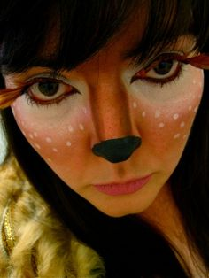 fantastic little fawn / deer makeup  But I know someone who does better..... Maria Nicole!!!