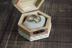Wedding Ring Bearer Box / Pillow  Hexahedral by MyHouseOfDreams, $19.00