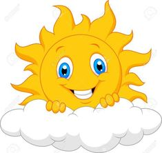 Happy sun behind the cloud vector image on VectorStock Art Drawings For Kids, Drawing For Kids, Bisous Gif, Sun Painting, Cloud Vector, School Painting, Happy Sun, Baby Quilts, Painted Rocks