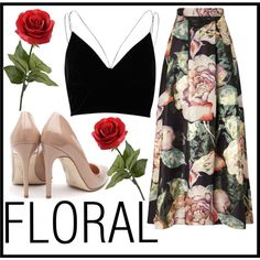 FLORAL by fashion-with-lela on Polyvore featuring River Island, Miss Selfridge and Rupert Sanderson