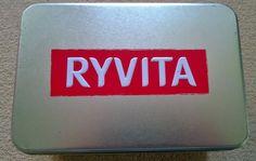 Ryvita Silver Coloured Storage Tin Silver Color, Tin, Advertising, Storage, Ebay, Purse Storage, Pewter, Larger, Store