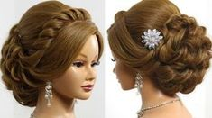Prom wedding updo. Romantic hairstyle for long medium hair