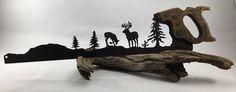 Metal Whitetail Mountain Scene Plasma Cut by Hand Repurposed