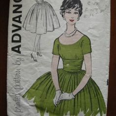 Early 60's Mad Men style Party dress by blanche