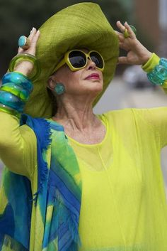 """If you want to dress like an advanced style lady""... I love this blog. The blogger finds all sorts of cool people who are older and have an amazing style"