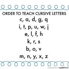 TEACH YOUR CHILD TO READ - Cursive writing alphabet and how to teach kids cursive handwriting with correct cursive letter order. - Super Effective Program Teaches Children Of All Ages To Read. Teaching Cursive Writing, Learning Cursive, Teaching Handwriting, Cursive Writing Worksheets, Handwriting Activities, Improve Your Handwriting, Teaching Letters, Learning To Write, Pre Writing