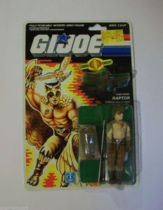 G.I.JOE 1987 RAPTOR MOC C8-C8+ FREE SHIPPING!!