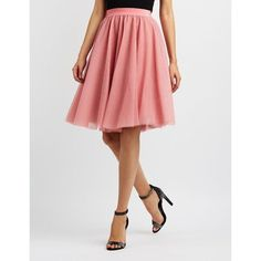 91fa3c672 Charlotte Russe Tulle Full Midi Skirt ( 27) ❤ liked on Polyvore featuring  skirts