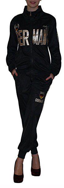 Trainingsanzüge in Schwarz für Frauen. Damenmode in Schwarz