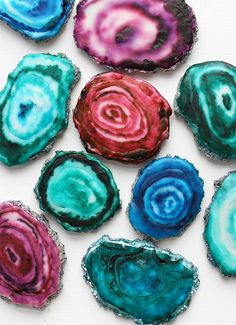 Agates Cookies! Step by Step instructions on how to make these beautiful cookies by Alana Jones Mann