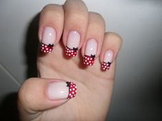 mickey mouse manicures | Minnie Mouse Nails! Yes!!! LOVE by earline