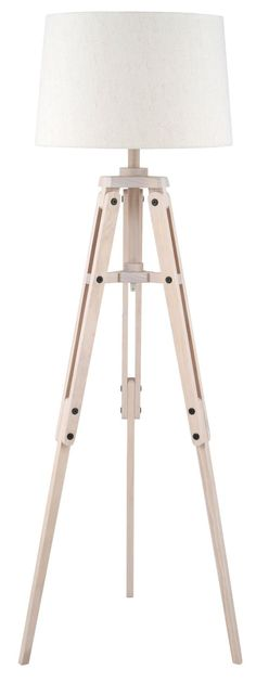 Pacific Lighting 4072-C Wood Tripod and Jute Floor Lamp Complete: Amazon.co.uk: Kitchen & Home
