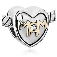 $12.99 This I Love Mom Heart Bead Fits Pandora Charm Bracelet Bead is compatible with Pandora bracelets, and interchangeable with Pandora charms / beads! Made of pewter plated with silver, will stand up beautifully to the test of time and wear. All Pugster beads compatible with Pandora, Biagi, Chamilia, and Oriana beads! NOTE: Pictured chain is not included.
