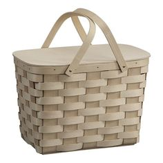 picnic basket, that is tall enough for a bottle of wine. $49.95