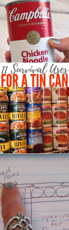 11 Survival Uses for a Tin Can — When you're in a survival situation, you need to know how to improvise with what you have on hand. We can try to prepare and stock up for a SHTF situation as much as we can, but the truth is that we may have to switch into survival mode at any time, in any place.