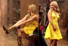 Hayden Panettiere wearing M Missoni yellow Flouncy Knit Dress