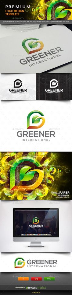 Leaf Green Letter G - Logo Design Template Vector #logotype Download it here: http://graphicriver.net/item/leaf-green-letter-g/11571917?s_rank=783?ref=nexion