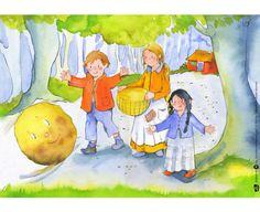 12 #Bildkarten #Kamishibai Der dicke fette Pfannkuchen #Erzähltheater #Bildertheater #Deutsch #lernen #DAZ #Geschichten erzählen #Betzold #Betzoldkiga