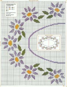 Cross Stitch Designs, Cross Stitch Patterns, Crochet Patterns, Crochet Tablecloth, Cross Stitch Embroidery, Hello Kitty, Kids Rugs, Flowers, Cross Stitch Flowers