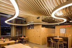 SUPER G | #prolicht #DARK #lighting #architecturallighting #suspended #goldenheart #LED #superG