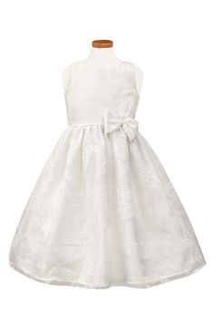 Main Image - Sorbet Floral Burnout Organza Dress (Toddler Girls, Little Girls & Big Girls)