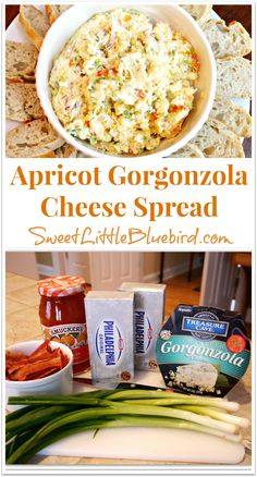 APRICOT GORGONZOLA CHEESE SPREAD |  If you're looking to wow your friends and family, try this spread!!! I can't tell you how many people have requested this recipe and ask me to make it for our get-togethers! It's a must have for the holidays! | SweetLittleBluebird.com