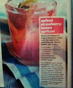 Spiked Strawberry-Lemon Spritzer.