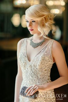 WedLuxe– Gatsby Girl | Photography by: Beth And Ty In Love Follow @WedLuxe for more wedding inspiration!