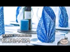 Servietfoldning Eleganza | Guide til foldning - Dreamshop - YouTube Origami, Table Etiquette, Napkin Folding, Sewing Class, Decoration, Napkins, About Me Blog, Paper Crafts, Napkin Ideas