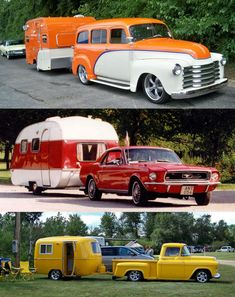 Which would you pick? Orange, red or yellow? Gotta love a cool vintage camper on the road... road trip anyone?