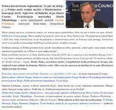 """Analiza: """"Polska będzie jednym z liderów Europy. Staniecie realnie na czele koalicji państw Europy Środkowo-Wsch., która będzie powstrzymywać Rosję"""". http://wpolityce.pl/polityka/333992-friedman-polska-bedzie-jednym-z-liderow-europy-staniecie-realnie-na-czele-koalicji-panstw-europy-srodkowo-wsch-ktora-bedzie-powstrzymywac-rosje"""