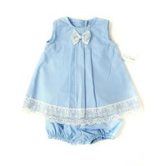 Baby Blue Spring Baby Girl Set  Baby Girl Dress  by LoopsyBaby