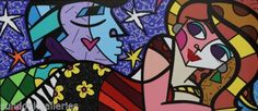 Find the latest shows, biography, and artworks for sale by Romero Britto. Celebrated for the vibrancy and optimism of his paintings, Romero Britto works in a… Original Artwork, Original Paintings, Neo Pop, Graffiti Painting, Asian History, World Of Color, Cubism, Altered Art, Pop Art