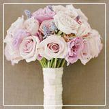 Pink pastel wedding bouquet