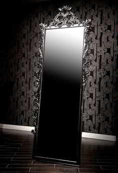 4123 BLACK BAROQUE DRESSING MIRROR