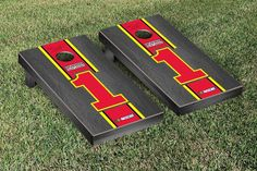NASCAR #1 Jamie McMurray Cornhole Boards - Onyx Stripe Version