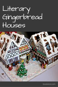 Check out these sweet literary gingerbread houses.
