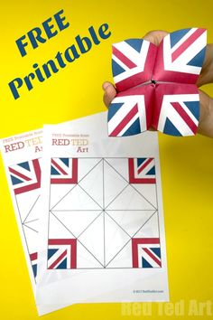 Union Jack Fortune Teller Printable is part of Quick Kids Crafts Free Printables Union Jack Fortune Teller Free Union Jack Printable for Kids Union Jack Crafts for Kids How to make a fortune Tell - Arts And Crafts For Adults, Arts And Crafts House, Easy Arts And Crafts, Crafts For Seniors, Paper Crafts For Kids, Crafts For Girls, Arts And Crafts Projects, Quick Crafts, Arts And Crafts Storage