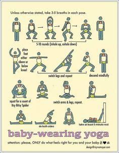 posições de yoga com bebê