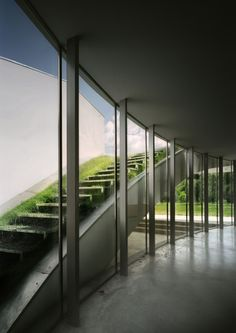 Modern outrial house poland green landscape