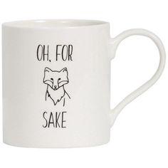For Fox Sake Mug Mugs, Tableware, Fox, Gifts, Presents, Products, Dinnerware, Tumblers, Tablewares