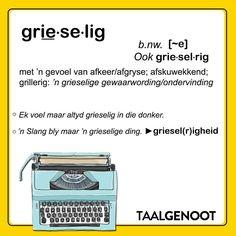 Grieselrig... #Afrikaans #woordlys