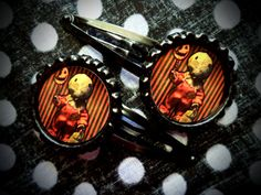 Trick R Treat hair clips by LttleShopOfHorrors on Etsy, $6.50