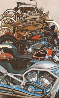 Harley-Davidson® Artwork 100 Great Years by Scott Jacobs #bikerart #chopperexchange #harleydavidson