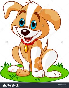 stock-vector-cute-and-funny-puppy-20743144.jpg (1260×1600)