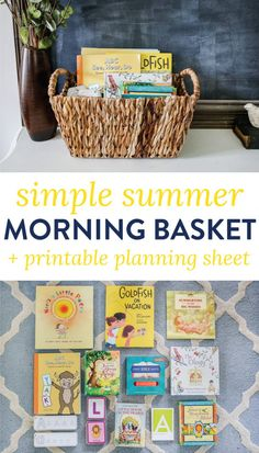 Summer Morning Basket (+ FREE Printable Planning Sheet) Morning Basket is a great rhythm to incorporate into your family morning routine. Get inspired with our Summer Morning Basket + easily plan out your own. Homeschool Kindergarten, Preschool At Home, Homeschooling, Kindergarten Schedule, Kindergarten Homeschool Curriculum, Early Education, Kids Education, Waldorf Education, History Education