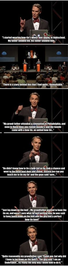 The Story Behind Bill Nye's Bow Tie http://chzb.gr/1CCiQTx