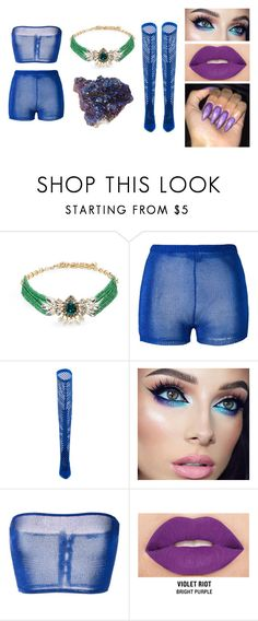 """""""h fq"""" by hazelozcan on Polyvore featuring moda, Shourouk, Balmain, Privileged ve Smashbox"""